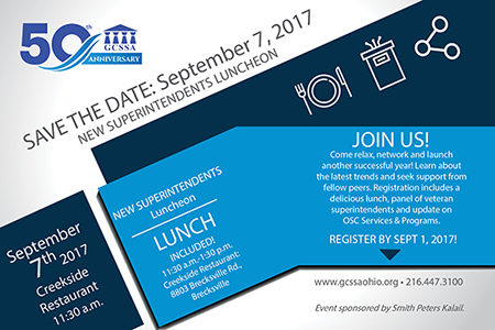 New Superintendents Luncheon on Sept. 7