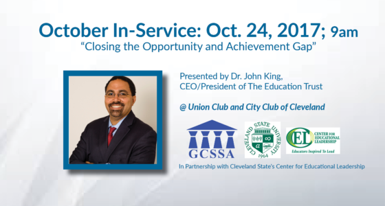 """October In-Service: """"Closing the Opportunity and Achievement Gap"""" on Oct. 24"""