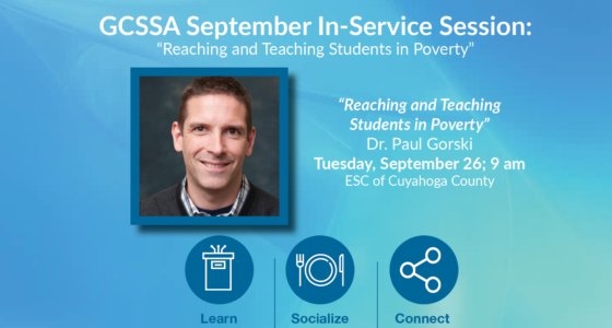 """GCSSA September In-Service: """"Reaching and Teaching Students in Poverty"""" on Sept 26"""