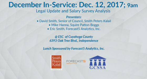 GCSSA December In-Service: Legal Update and Salary Survey on Dec. 12