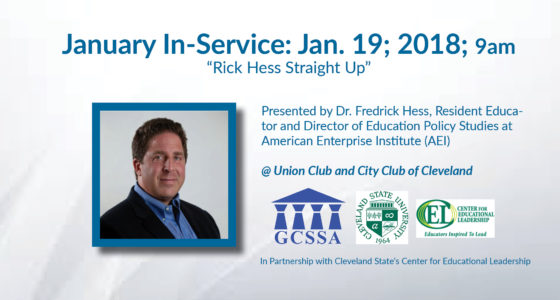"""GCSSA January In-Service Session: """"Rick Hess Straight Up"""""""